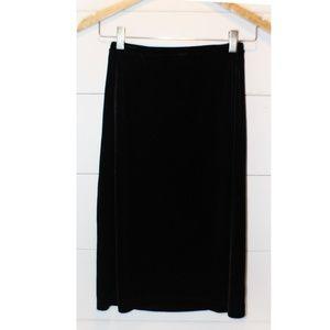 Girl's GAP Stretch Black Velvet Skirt